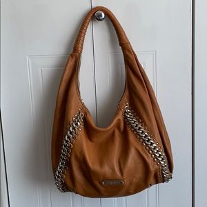 Michael Kors camel coloured leather slouch bag